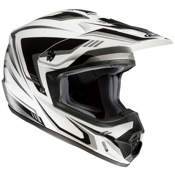 RSタイチ (RS TAICHI) バイク用 ヘルメット オフロード HJC CS-MXエッジ WHITE/BLACK(MC5) XLサイズ HJH123WH01XL
