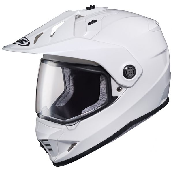 RSタイチ (RS TAICHI) バイク用 ヘルメット オフロード HJC DS-X1 ソリッド WHITE M HJH133WH01M