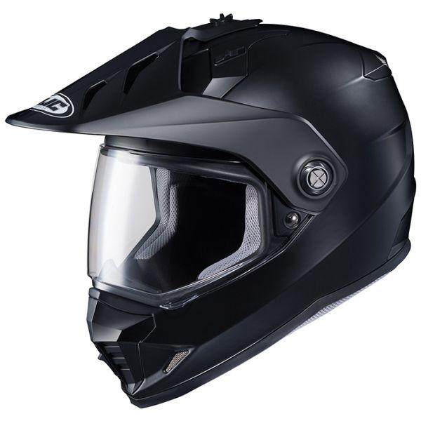 RSタイチ (RS TAICHI) バイク用 ヘルメット オフロード HJC DS-X1 ソリッド SEMI FLAT BLACK S HJH133BK01S