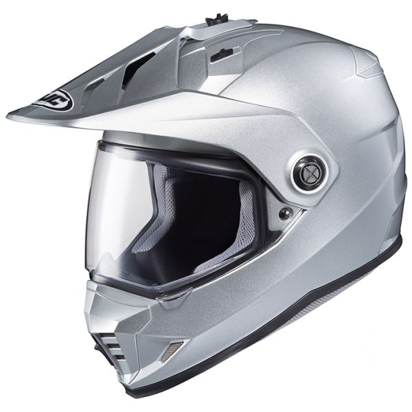 RSタイチ (RS TAICHI) バイク用 ヘルメット オフロード HJC DS-X1 ソリッド SILVER L HJH133SV01L