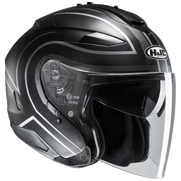 RSタイチ (RS TAICHI) バイク用 ヘルメット ジェット HJC IS-33エイプス BLACK/SILVER(MC5SF) XL HJH146SV01XL