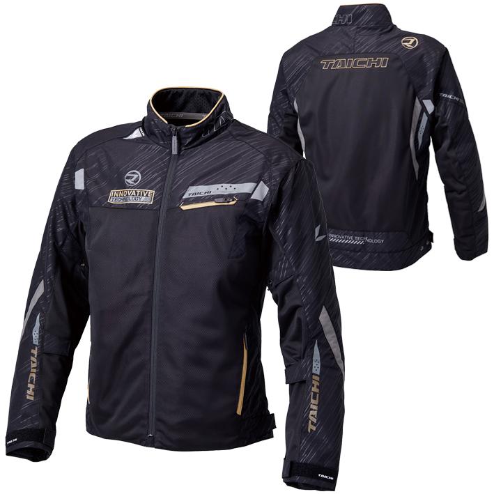 RSタイチ (RS TAICHI) バイク用 ジャケット レーサー メッシュジャケット ブラック/ゴールド Mサイズ RSJ325BK03M