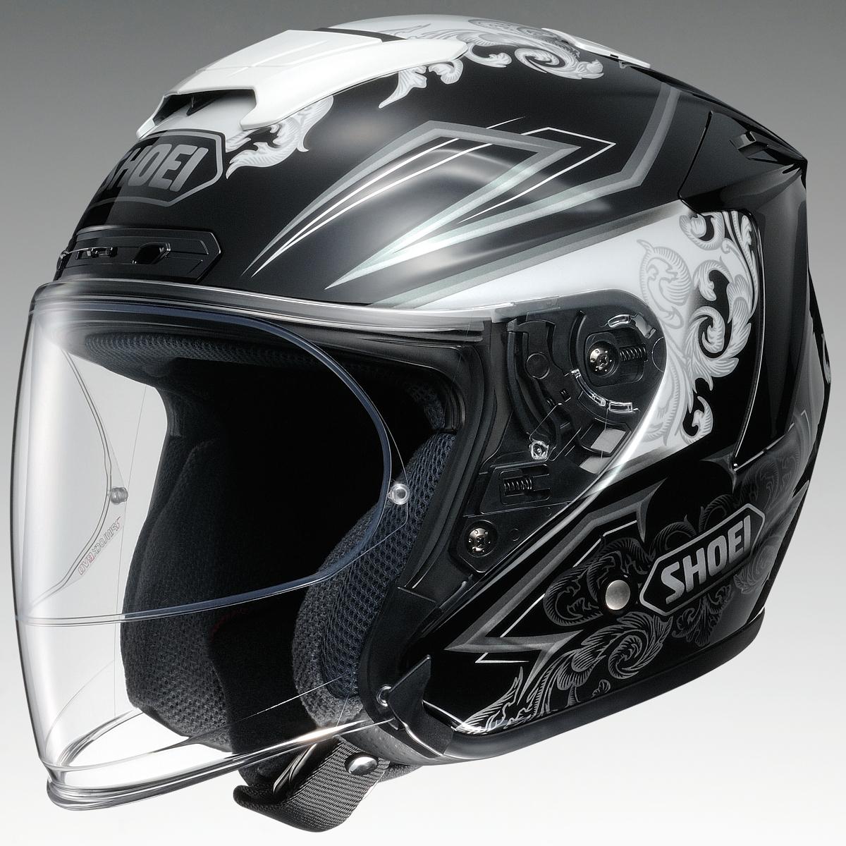 SHOEI ジェットヘルメット J-FORCE4 REFINADO TC-5 WH/BK XSサイズ