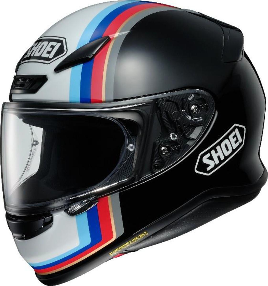 【動画あり】 SHOEI フルフェイスヘルメット Z-7 RECOUNTER (リカウンター) TC-10 XSサイズ