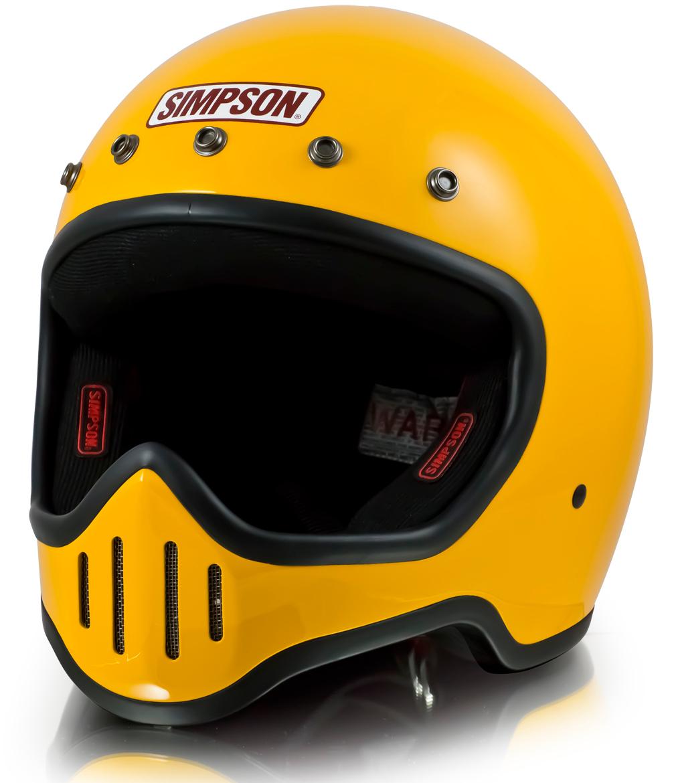 SIMPSON フルフェイスヘルメット M50 イエロー 59-60cm
