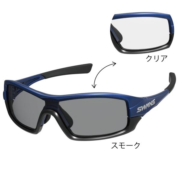 SWANS (スワンズ) サングラス STRIX I-0066 MEBL (ダークメタリックブルー×ブラック×ブラック) ストリックス・アイ 調光レンズモデル 3144004911484