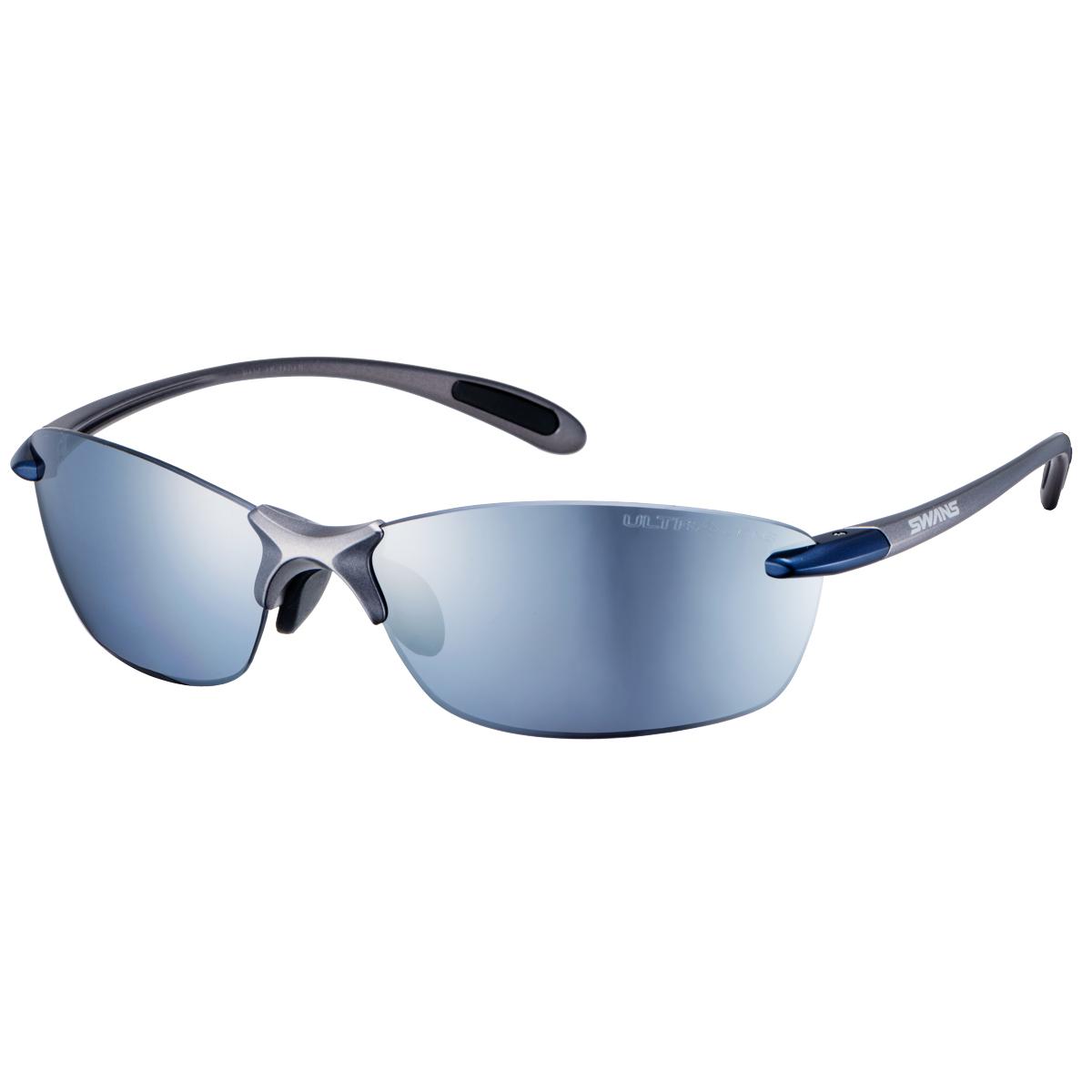 SWANS (スワンズ) サングラス SALF-0767 BLGM (マットガンメタリック×ダークガンメタリックブルー) Airless-Leaf fit エアレス・リーフフィット ULTRA for GOLFモデル 3136013001304