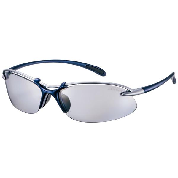 SWANS スワンズ サングラス SA-519 在庫限り MTSIL マットチタンシルバー×メタリックネイビー ウェイブ Airless-Wave 3136005190930 エアレス 登場大人気アイテム 偏光レンズモデル