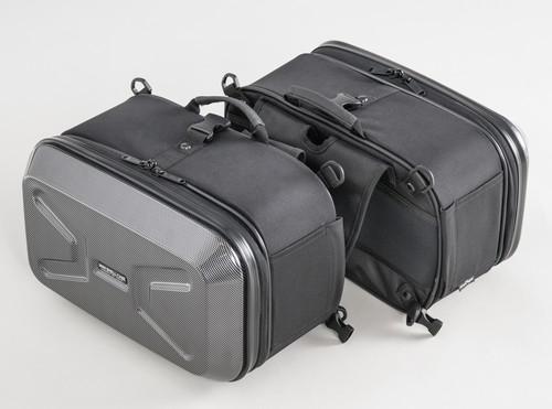 タナックス (TANAX) サイドバッグ モトフィズ(MOTOFIZZ) ミニシェルケース(ツーリング) カーボン柄 (容量22L 片側11L) MFK-234