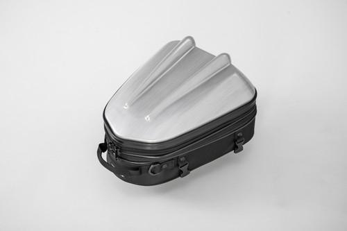 タナックス (TANAX) MOTOFIZZ バイクシートバック シェルシートバックMT/ヘアラインシルバー [容量10-14L] MFK-239