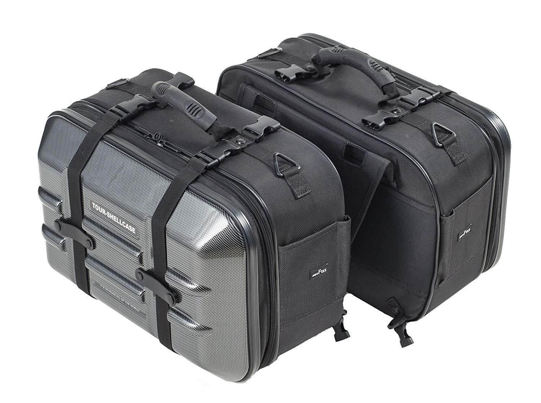 タナックス (TANAX) バイク用サイドバッグ MOTOFIZZ ツアーシェルケース2 (カーボン柄) 容量40?(片側20?) MFK-250