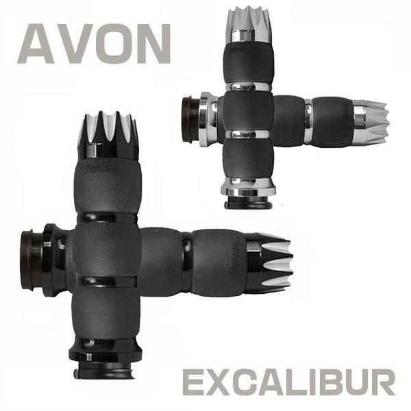 【AVON】 VELVET AIR GRIPS EXCALIBURベルベットエアーグリップ 電子制御スロットル用