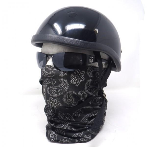 【ポイント消化】【買い回り】 【送料無料】バフマスク ストレッチ素材チューブマスク『ブラックペイズリー』フェイスマスク バイク・アウトドア・ジョギング・日焼け・花粉対策