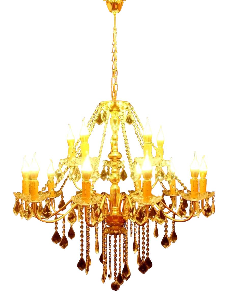 大型 2段 15灯 ゴールド LED電球対応