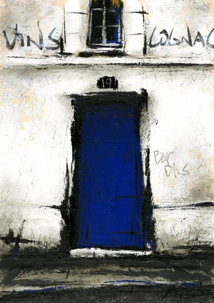 【作家名】中野克彦 【作品名】青い扉のBAR
