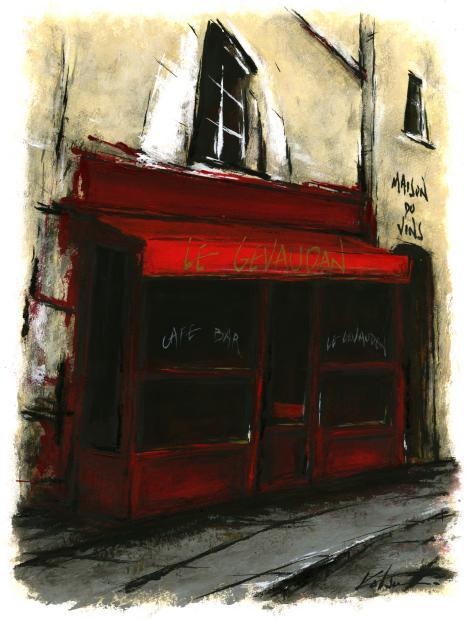 【作家名】中野克彦 【作品名】裏通りの赤いカフェ