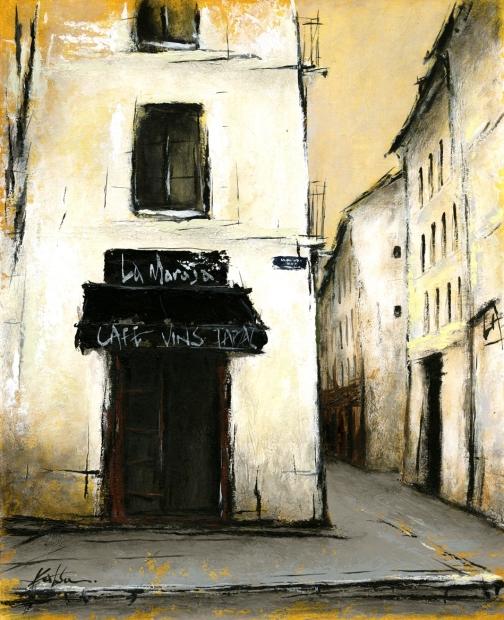中野克彦さんが油絵の絵画で描いたパリの裏通り 街角のカフェ 4 は 安全 中野克彦 2013年2月に描かれた油絵の絵画です 作家名 作品名 希少