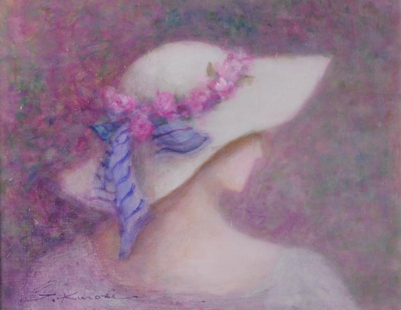 【作家名】黒木トモ子 【作品名】花飾りの帽子