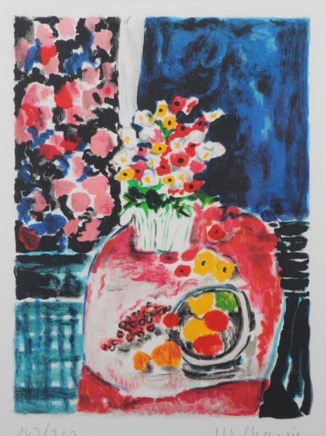 【作家名】ウェンディ・チャザン【作品名】テーブルの花と果物