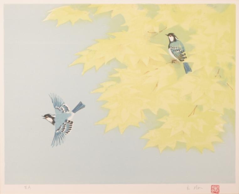 【作家名】野々内良樹 【作品名】楓に小禽