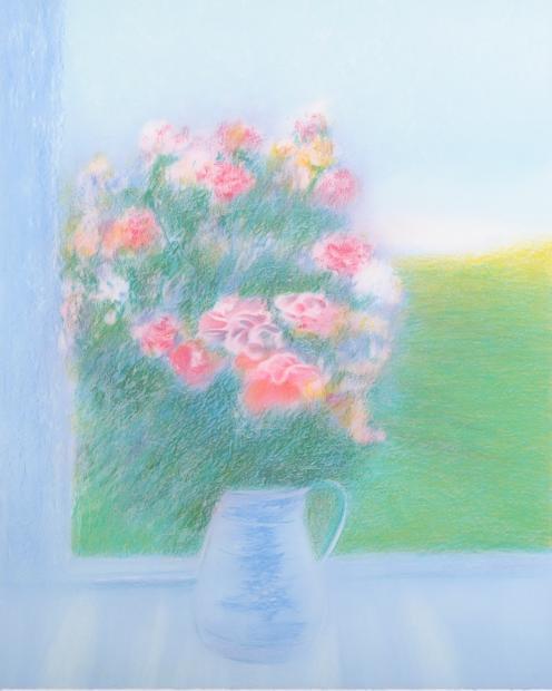 【作家名】アンドレ・アングル【作品名】青い花瓶の花