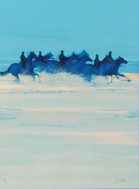 【作家名】ヴィクトール・スパン【作品名】波と戯れる馬