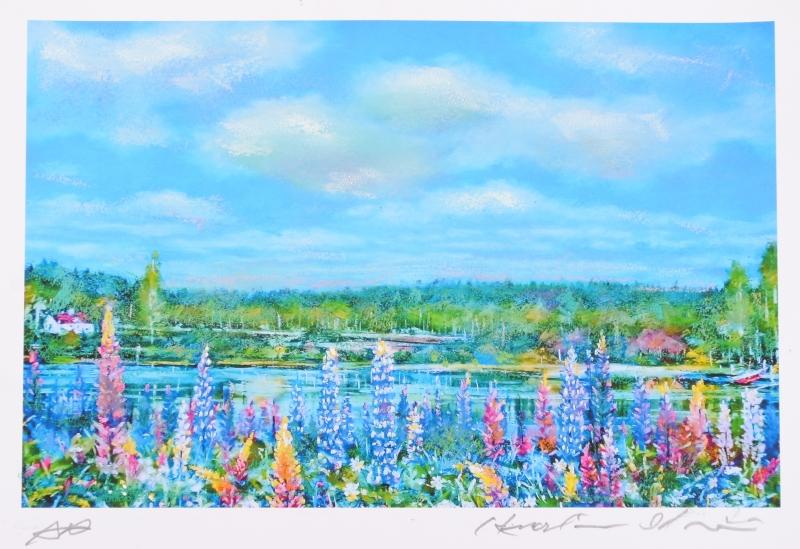 【作家名】石井清【作品名】ルピナスの咲く湖畔(小)