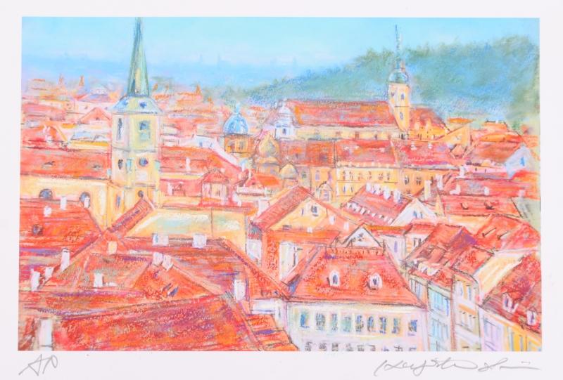 【作家名】石井清【作品名】プラハの赤い屋根・2