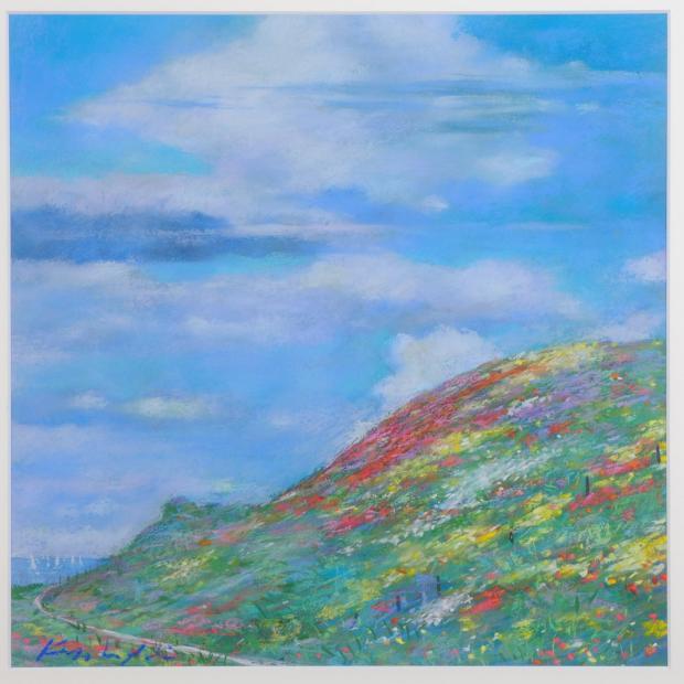 【作家名】石井清 【作品名】丘の上の雲