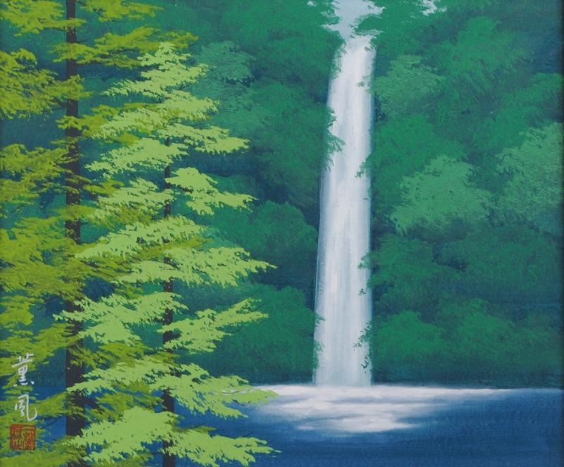 石井薫風さんが日本画の絵画で描いた和の絵・「清涼」は平成9年8月に描かれた和の絵の絵画作品です。  【作家名】石井薫風【作品名】静涼
