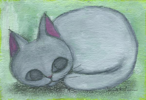 【作家名】香月和夫 【作品名】丸白猫