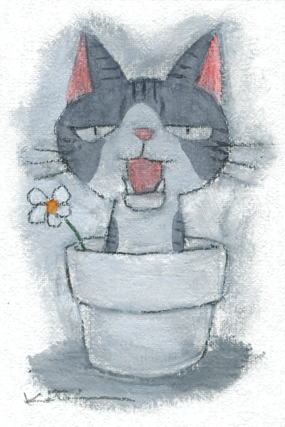 【作家名】香月和夫 【作品名】キジ鉢猫