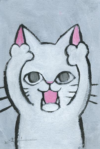 【作家名】香月和夫 【作品名】あー白猫