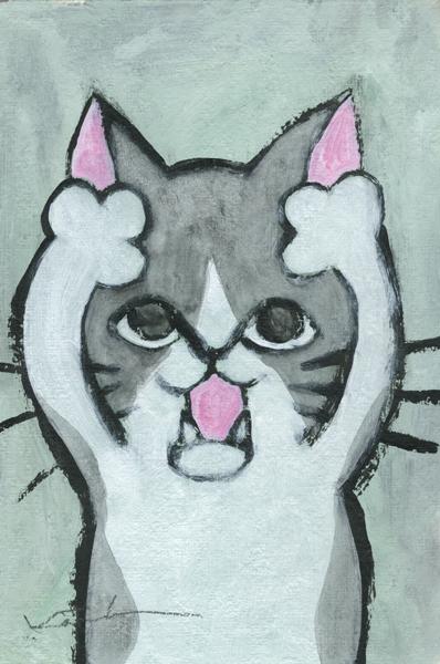 【作家名】香月和夫 【作品名】あーハチワレ猫