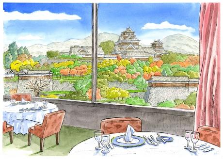 【作家名】内藤謙一 【作品名】熊本ホテルキャッスルからの眺望
