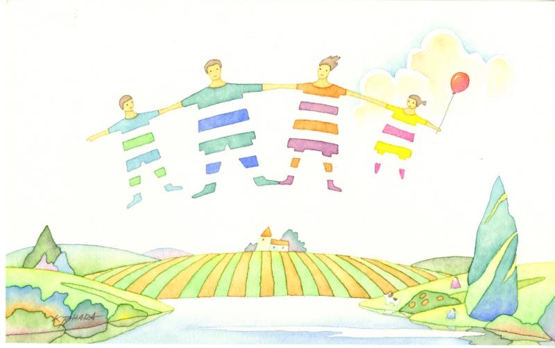 【作家名】田原健二 【作品名】仲良し家族