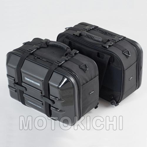 TANAX (タナックス) MOTO FIZZ(モトフィズ)MFK-195 ツアーシェルケース 容量40L(片側20L) ブラック