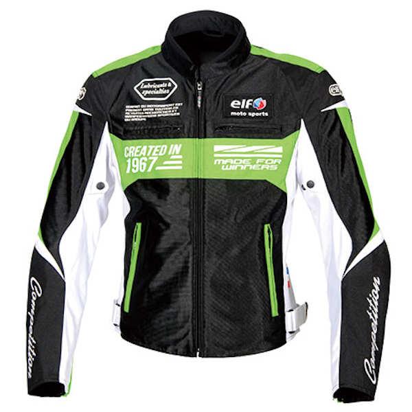 ELF エルフ EJ-S103 Ideal Mesh Jacket イデアールメッシュジャケット ブラック/グリーン S~4Lサイズ