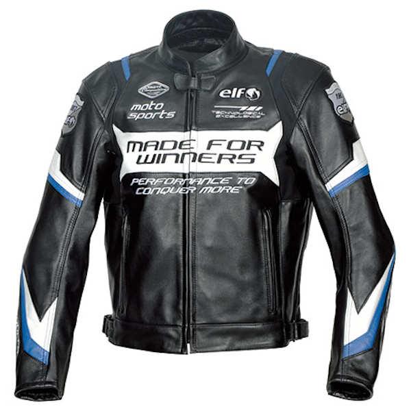 ELF エルフ ELJ-A01 Sport Leather Jacket スポルトレザージャケット ブルー M~3Lサイズ