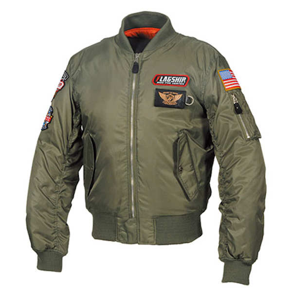 FJ-W196 FLAG SHIP Personal MA-1 Jacket カーキ M~4Lサイズ