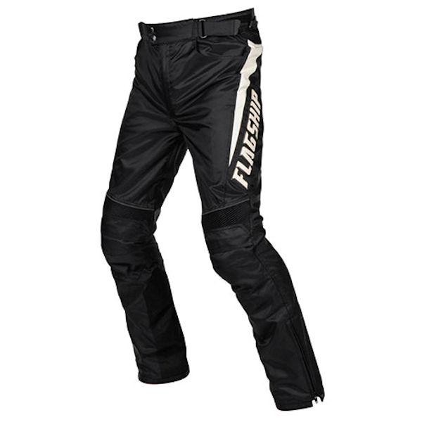 FTP-A192 FLAG SHIP All Weather Pants ライディングパンツ ブラック/ホワイト