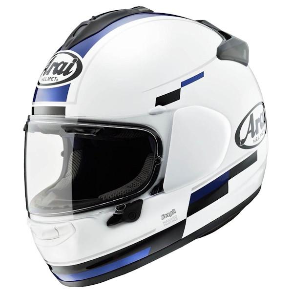 【東単オリジナル】Arai VECTOR-X BLAZE ベクターX ブレイズ アライヘルメット フルフェイス ホワイト/ブラック/ブルー