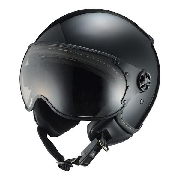 【あす楽対応】シレックス バーキン ZZ210K-RSBK-XL パイロットタイプヘルメット レギュラー ソリッドブラック つや有りブラック XLサイズ 60~62cm