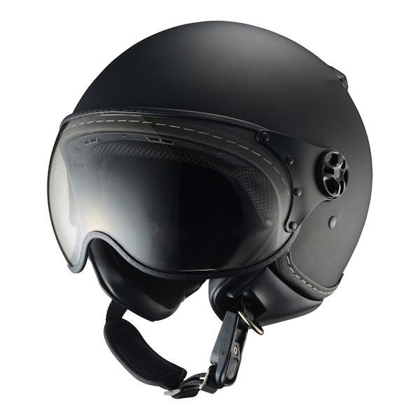 【あす楽対応】シレックス バーキン ZZ210K-RMBK-XL パイロットタイプヘルメット レギュラー マッドブラック つや消しブラック XLサイズ 60~62cm