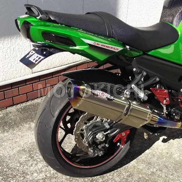 BEET 日本ビート工業 0234-KA8-BL ブルーチタン カワサキ Ninja ZZR1400R NASSERT-R Evolution Type2 スリップオン SOLO