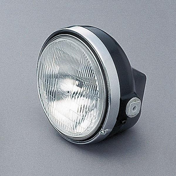 デイトナ DAYTONA 22713 ヘッドライト M レンズ径φ153mm ブラックボディ/クロームリム H4 12V60/55W 汎用