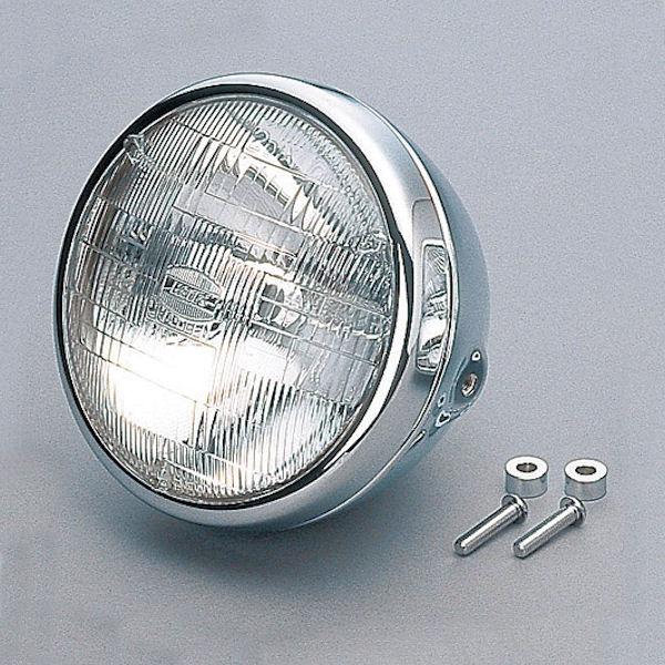 デイトナ DAYTONA 95635 旧品番 26615 ビンテージヘッドライト 12V60/55W レンズ径φ170mm H4バルブ クローム 汎用 SR400/500