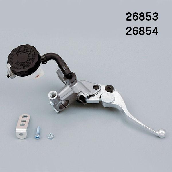デイトナ DAYTONA 26853 ブレーキ マスターシリンダー 1/2インチ(12.7mm) ショートレバー シルバー/バフクリア (横型/タンク別体式) NISSIN 汎用