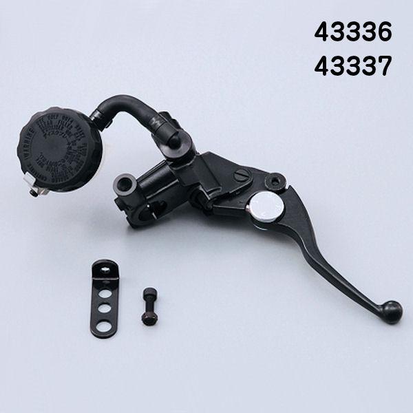 デイトナ DAYTONA 43337 ブレーキ マスターシリンダー 11mm ショートレバー ブラック/ブラック (横型/タンク別体式) NISSIN 汎用