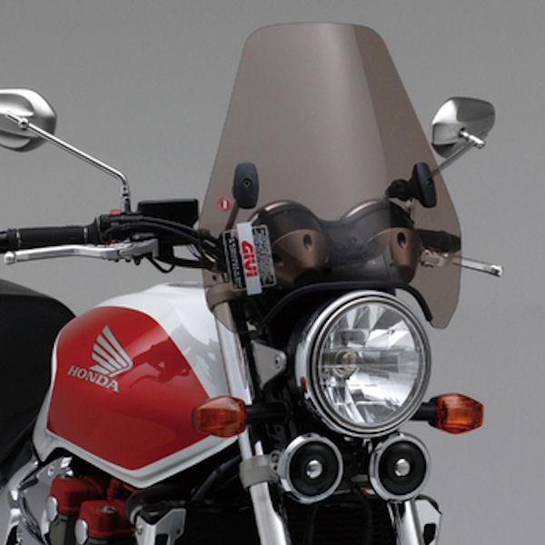 デイトナ DAYTONA 93973 GIVI ウインドスクリーン ブラウン A601 H370×W425mm φ22.2/24.5ハンドル用 汎用 CB400SF